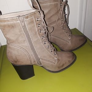 Express lace-up heeled boots